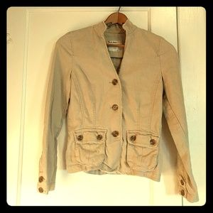 Old Navy Safari Style Linen Blend Jacket